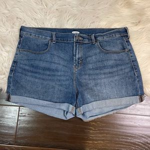 Old Navy Cuffed Jean Shorts Plus Size 16
